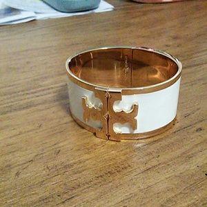 Tory Burch cuff bracelet- cream colored never worn